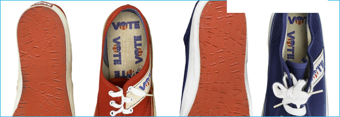 Clickable image of Youth Vote Shoes, 1970s, entry to Learning Lab Collection