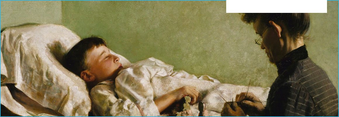 Clickable image of The Sick Child, entry to Learning Lab Collection.