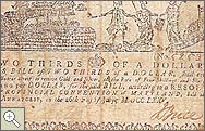 Maryland monetary note from 1775 Front side image