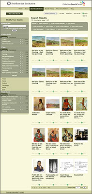 Smithsonian Collections Search website