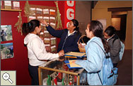 Students visit the El Rio Exhibit