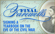 Final Farewells: Signing a Yearbook on the Eve of the Civil War