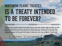 Northern Plains Treaties: Is a Treaty Intended to Be Forever?
